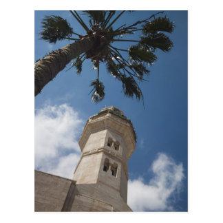 Cartão Postal Israel, Cisjordânia, Bethlehem, mesquita de Omar