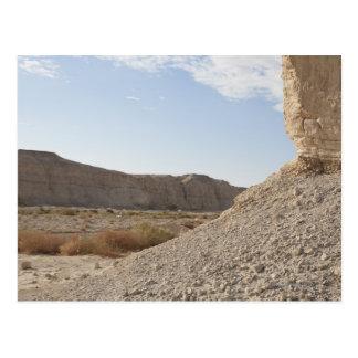 Cartão Postal Israel, Mar Morto, paisagem do deserto