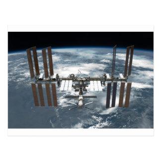 Cartão Postal ISS da estação espacial internacional, esforço