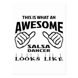 Cartão Postal Isto é que dança impressionante da salsa olha como