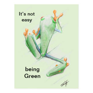 Cartão Postal It' s not easy being Green