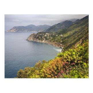 Cartão Postal Italia. Área de caminhada litoral entre as vilas