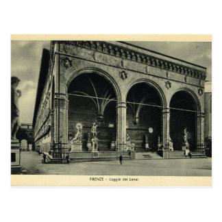 Cartão Postal Italia, Florença, Firenze, 1908, dei Lanzi do