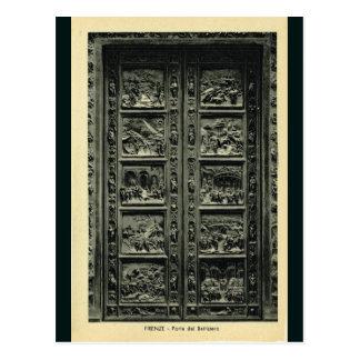 Cartão Postal Italia, Florença, Firenze, 1908, portas de