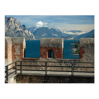 Cartão Postal Italia, Malcesine, vista do castelo do lago