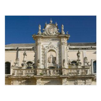 Cartão Postal Italia, Puglia, Lecce, Praça del Domo, Palazzo
