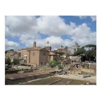 Cartão Postal Italia, Roma - foto romana do fórum