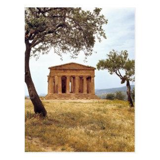 Cartão Postal Italia, Sicília, Agrigento. As ruínas dos 2