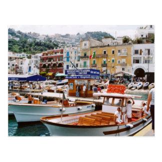Cartão Postal Italia,    término do barco, Capri