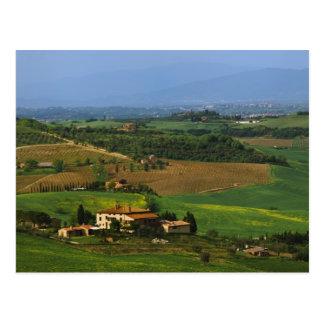 Cartão Postal Italia, Toscânia. Cénico do d'Orcia de Val