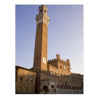Cartão Postal Italia, Toscânia, Sienna. Torre del Mangia sobre