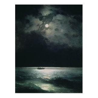 Cartão Postal Ivan Aivazovsky- o Mar Negro na noite
