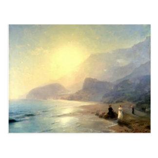 Cartão Postal Ivan Aivazovsky- Pushkin e condessa Raevskaya