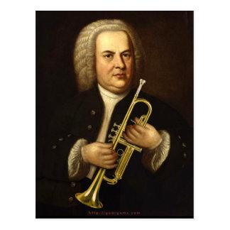 Cartão Postal J.S. Bach com trombeta