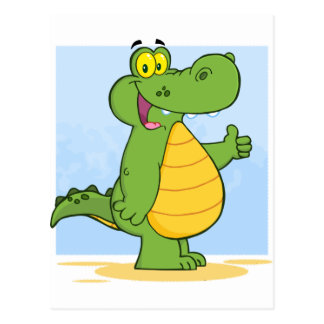 Cartão Postal Jacaré ou crocodilo de sorriso