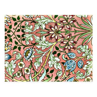 Cartão Postal Jacinto, um teste padrão de William Morris