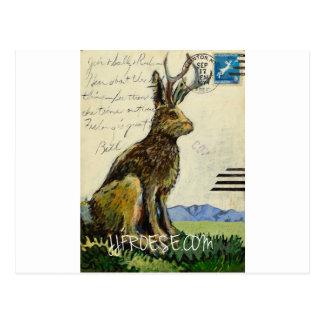 Cartão Postal Jackalope #2 por James J. Froese