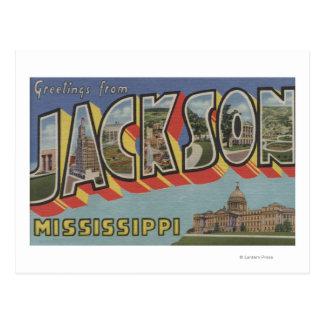 Cartão Postal Jackson, Mississippi - grandes cenas da letra