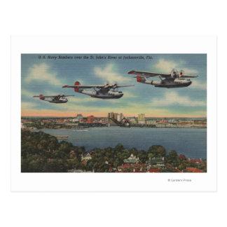 Cartão Postal Jacksonville, FL - bombardeiros do marinho sobre