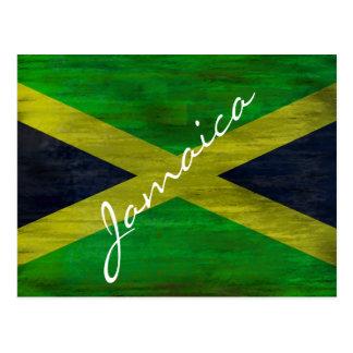 Cartão Postal Jamaica afligiu a bandeira jamaicana