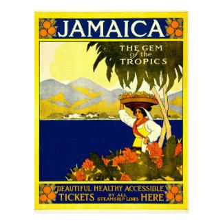 Cartão Postal Jamaica, poster das viagens vintage