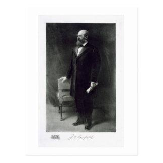 Cartão Postal James A. Garfield, 20o presidente da rua unida