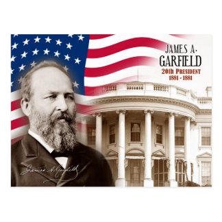 Cartão Postal James A. Garfield - 20o presidente dos E.U.