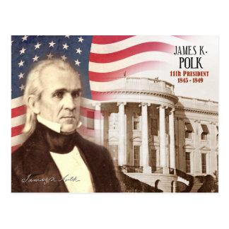 Cartão Postal James K. Polk - 11o presidente dos E.U.