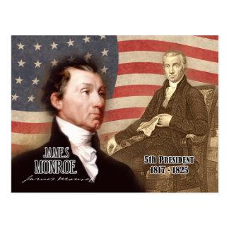 Cartão Postal James Monroe - 5o presidente dos E.U.