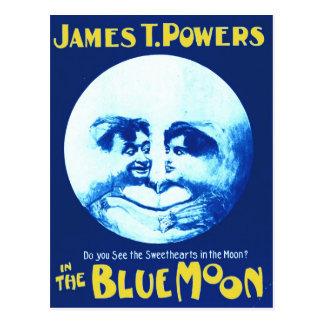 """Cartão Postal James T. Poder """"na lua azul """""""