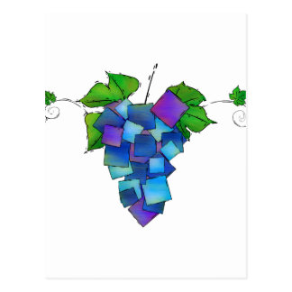 Cartão Postal Jamurissa - uvas quadradas