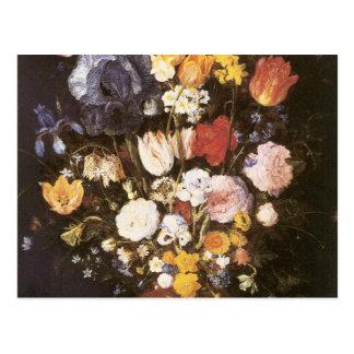 Cartão Postal Jan Brueghel o vaso mais velho das flores