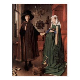 Cartão Postal Jan van Eyck camionete Eyck, em janeiro de 1387