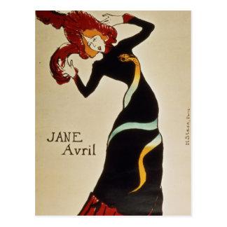 Cartão Postal Jane Avril 1899
