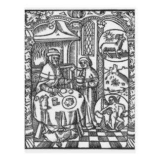 """Cartão Postal Janeiro, de """"do DES Bergers Almanach"""", 1491"""