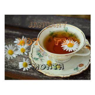 Cartão Postal Janeiro - mês quente do chá