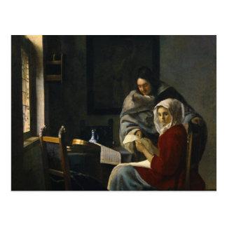 Cartão Postal Janeiro Vermeer - menina interrompida em sua