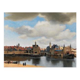 Cartão Postal Janeiro Vermeer - vista em Delft
