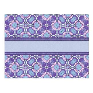 Cartão Postal Janela de vidro azul