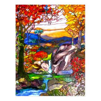 Cartão Postal Janela de vitral