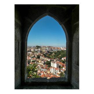 Cartão Postal Janela do castelo de Jorge do Sao, Portugal -