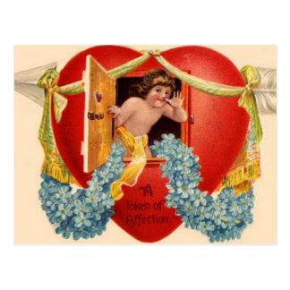 Cartão Postal Janela do coração dos namorados