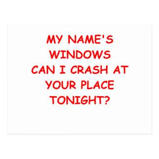 Cartão Postal janelas