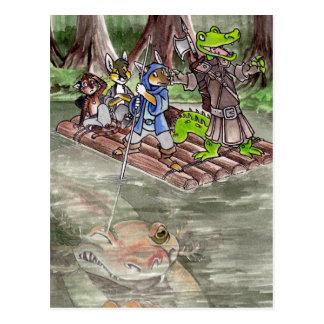 Cartão Postal Jangada do pântano