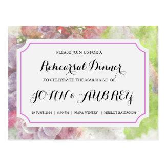 Cartão Postal Jantar de ensaio para o casamento do vinhedo ou da