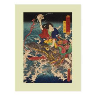 Cartão Postal Japonês Woodblock