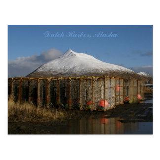 Cartão Postal Jarda de Crabpot no porto holandês, Alaska