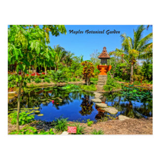 Cartão Postal Jardim asiático - jardim botânico Nápoles de