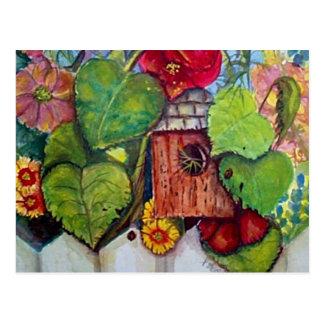 Cartão Postal Jardim da casa de campo da casa do pássaro