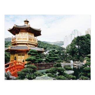 Cartão Postal Jardim de Hong Kong Nan Lian